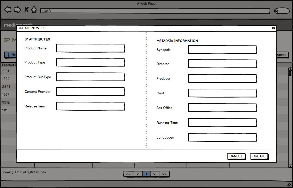 Studio Connect - Create form