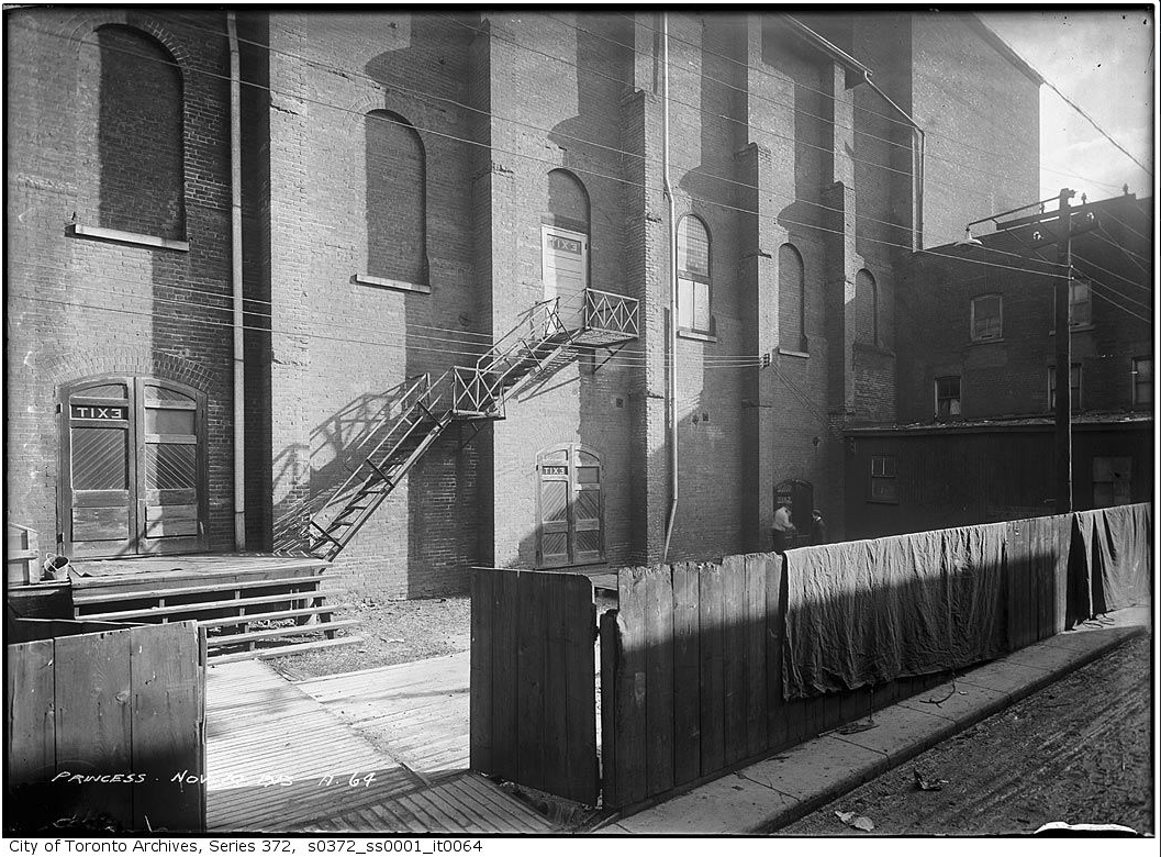 Princess Theatre. November 14, 1913. City of Toronto Archives, Fonds 200, Series 372, Subseries 1, Item 64.