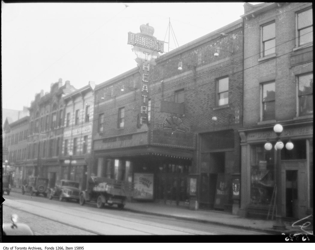 Princess Theatre, King St. 11 Mar. 1929. Fonds 1266, Item 15895.