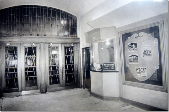 "Beaver Theatre Lobby - 1930  Taylor, Doug. ""Memories of Toronto's Beaver Theatre on Dundas St. West"".  Historic Toronto.  CIty of Toronto Archives, Series 1278, File 63.   tayloronhistory.com/2014/06/19/torontos-beaver-theatre-on-dundas-st-west/"