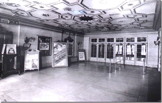"Belsize Theatre - Lobby  Taylor, Doug. ""Toronto's old movie theatres - the Regent (the Belsize, the Crest)"". Historic Toronto. City of Toronto Archives, Series 1278, Fl. 27.  tayloronhistory.com/2013/12/21/torontos-old-movie-theatresthe-regent-mt-pleasant/"