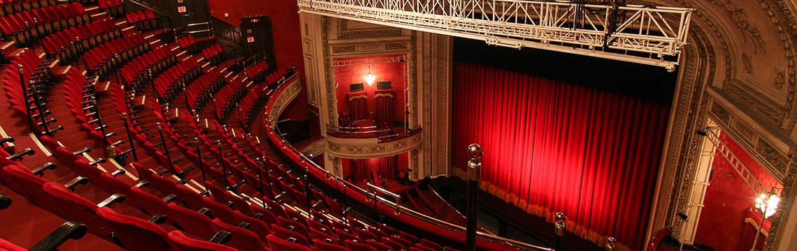 """Royal Alexandra Theatre - Interior  """"History - Royal Alexandra Theatre.""""  Mirvish.com , Mirvish Company, 2017,  www.mirvish.com/theatres/royal-alexandra-theatre?open=history#view . Accessed 9 May 2017."""
