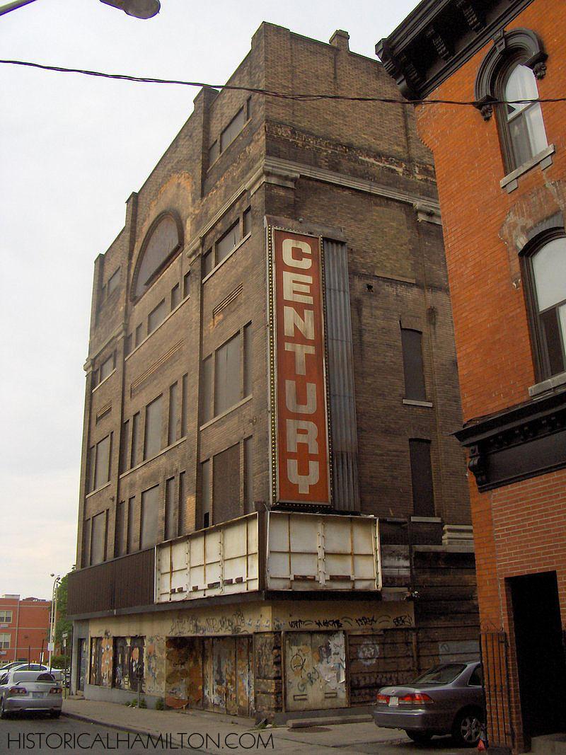 "Century Theatre - Post Closing  Kowalewicz, Brian. ""Century Theatre, southwest corner.""  historical Hamilton.  historicalhamilton.com/beasley/century-(lyric)-theatre/p-1438-century-theatre,-southwest-corner.html"