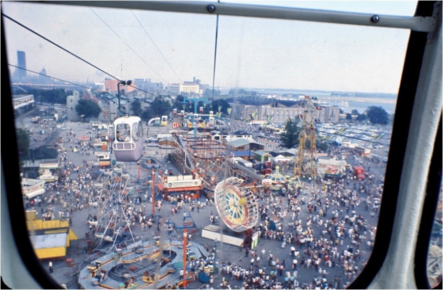 View of the Canadian National Exhibition (CNE), 1967. © Government of Canada. Library and Archives Canada