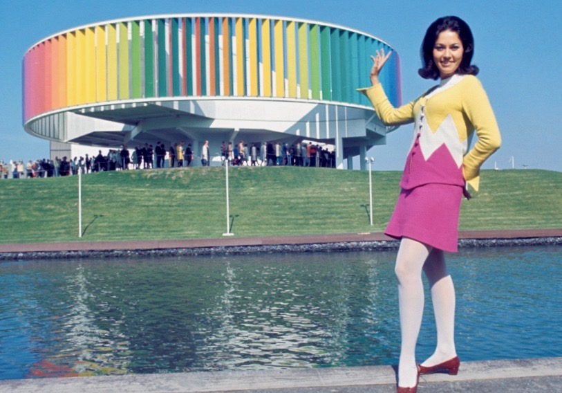 Hostess of the Kaleidoscope at Expo 67, Montreal. © Government of Canada. Library and Archives Canada
