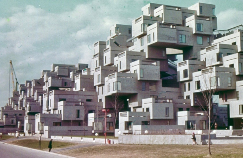 Habitat 67, a housing experiment in a high-density urban enviroment by architect Moshe Safdie, created as part of Expo 67 © Special Collections Research Center, Henry Madden Library, California State University, Fresno