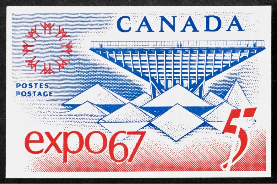 Postage Stamp of Expo 67. © Hagley Museum and Library.