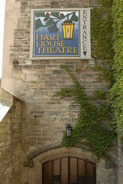 "Hart House Theatre Entrance, circa 2013.  ""Theatre Rentals.""  Hart House , University of Toronto, 2013, harthouse.ca/theatre-rentals/"