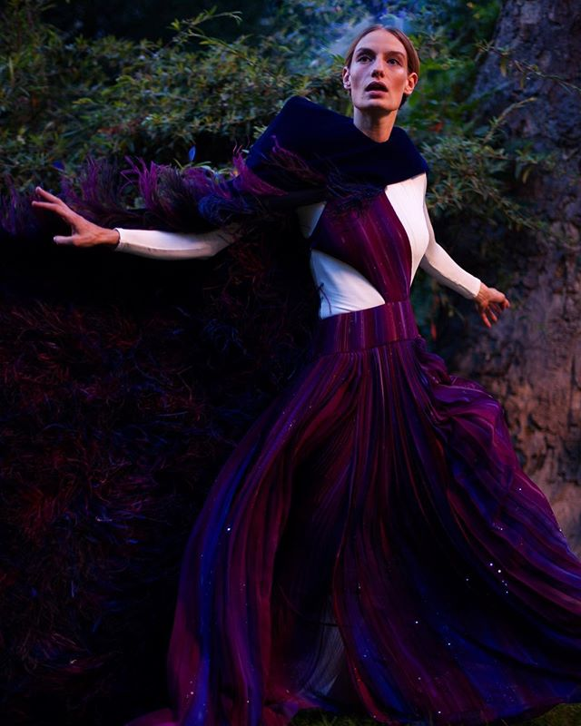 Givenchy Haute Couture // felt v connected to this shoot as it merged nature and fashion @givenchyofficial @clarewaightkeller