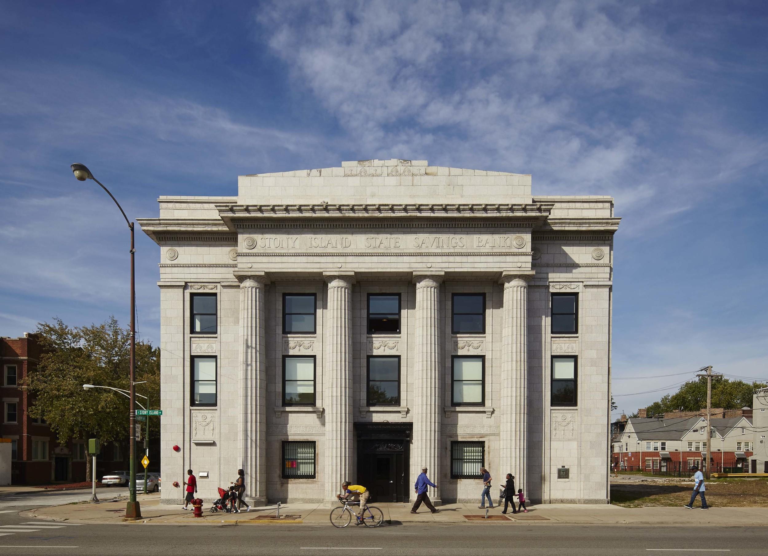 Stony Island Arts Bank. Photo by Tom Harris. Courtesy of Rebuild Foundation.
