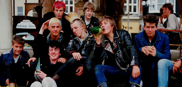 1980s typical England youth.