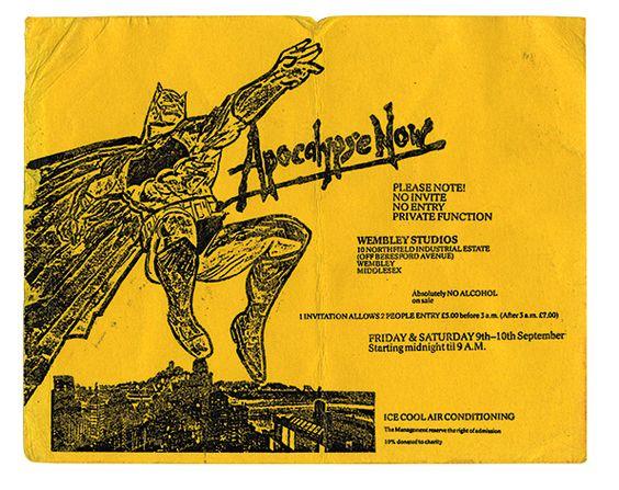 Apocalypse Now rave flyer