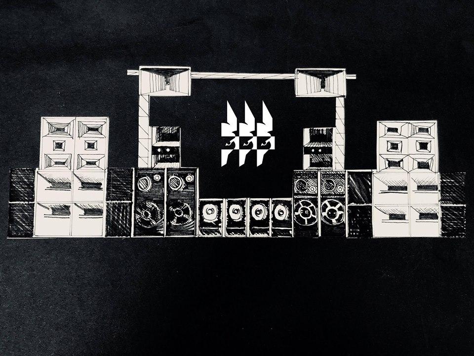 """"""" SETH SYSTEM   SOUND """"  À chaque édition, cette même sonorisation  unique , home-made  et donc  prometteuse ."""