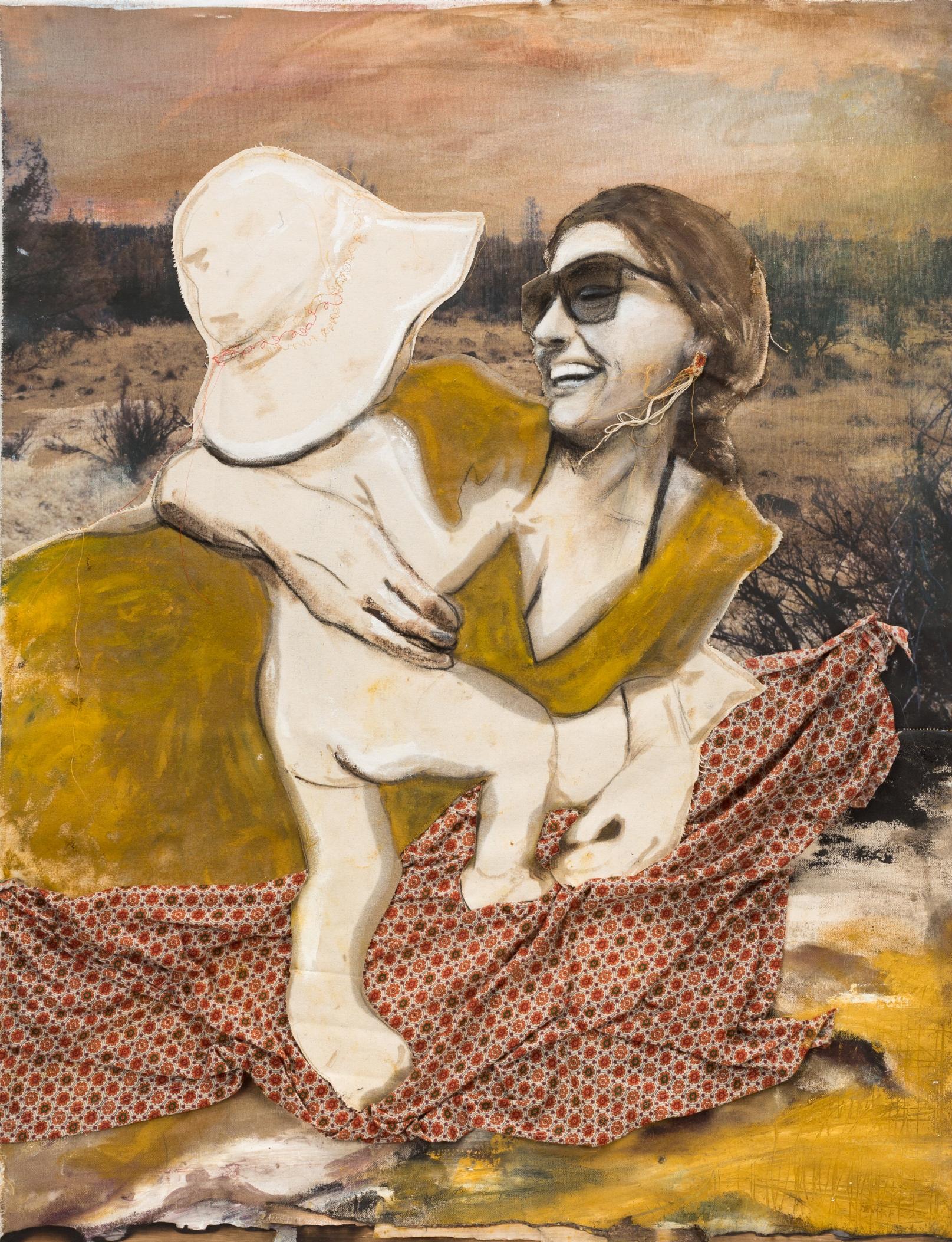 Sagebrush, Woman, and Child