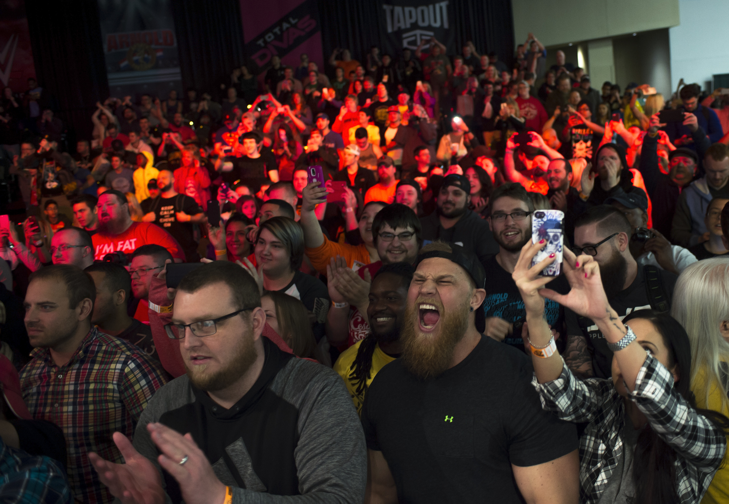 Fans at WWE NXT