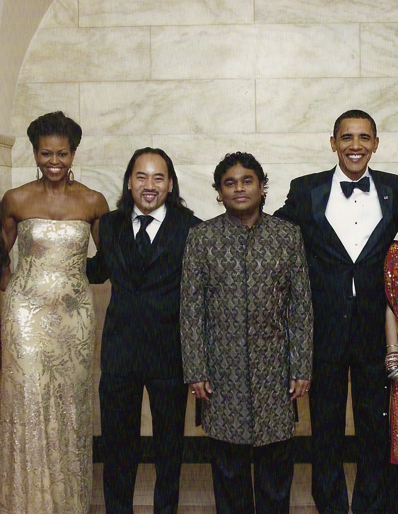 A.R. Rahman, President Barack Obama, First Lady Michelle Obama