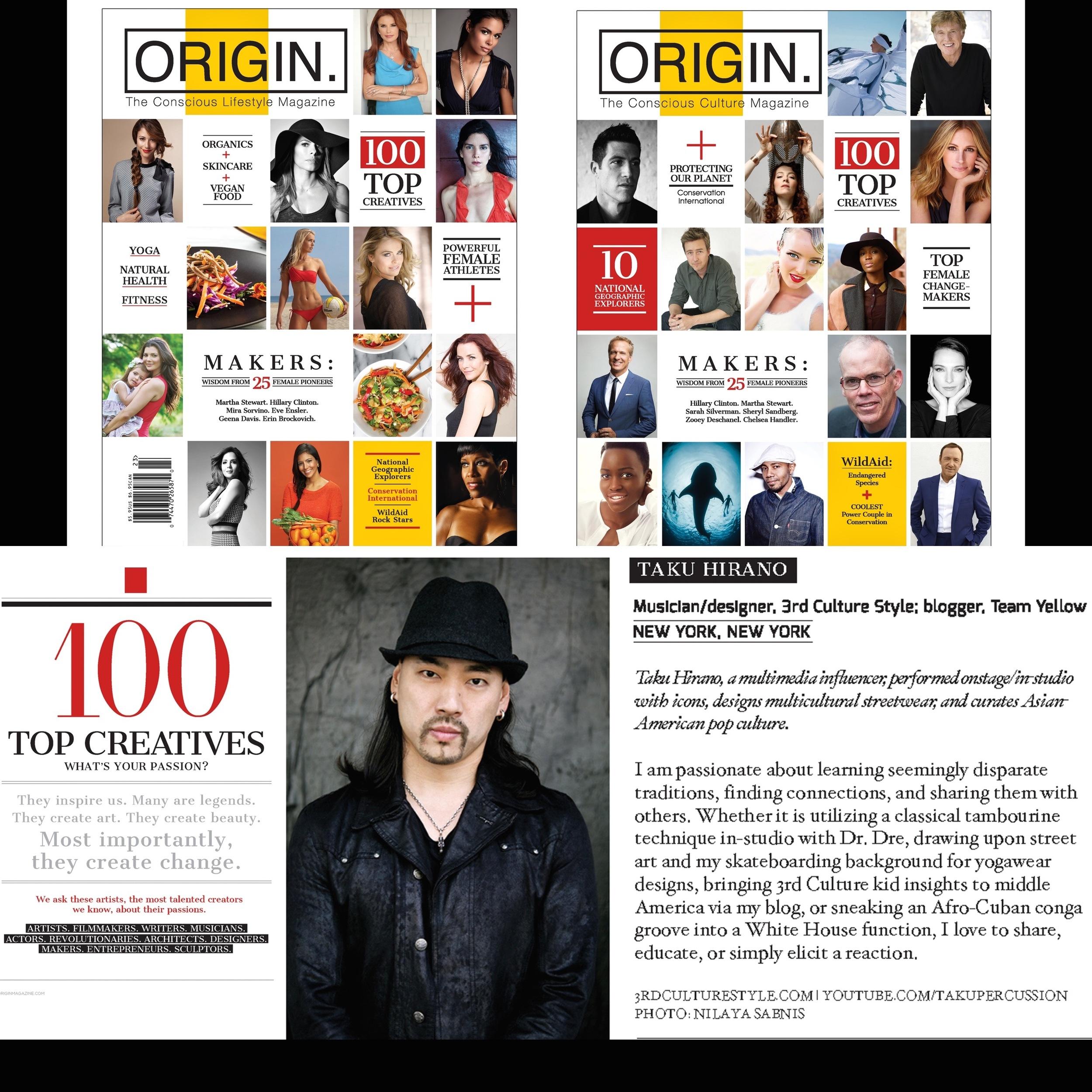 ORIGIN Magazine: Top 100 Creatives