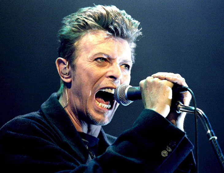 David Bowie, playing live (Reuters)