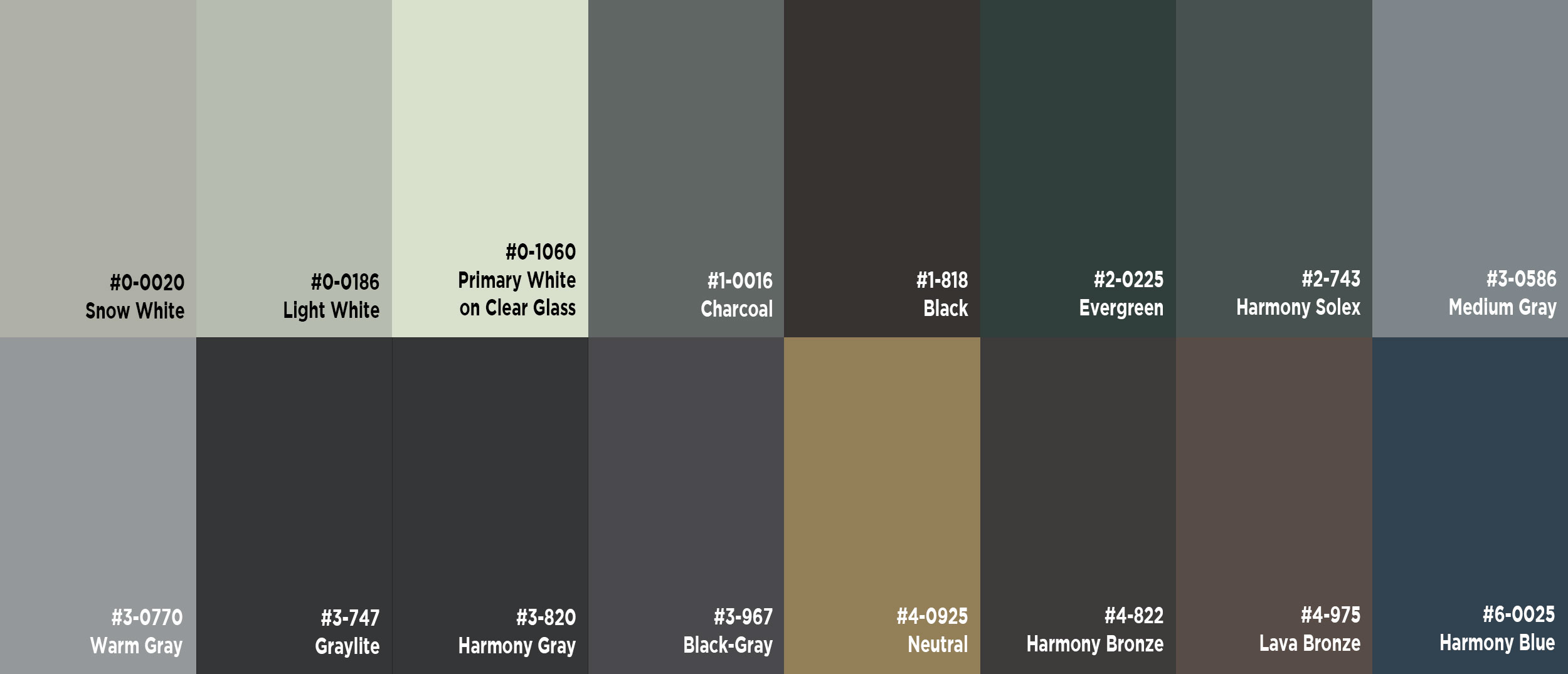 Industry Standard Colors - Click on color palette to learn more. Contact us to discuss Custom Color options - we can make/match virtually any color. *Colors may differ in shade based on your computer monitor screen settings - we recommend ordering a free physical sample for in-person review.