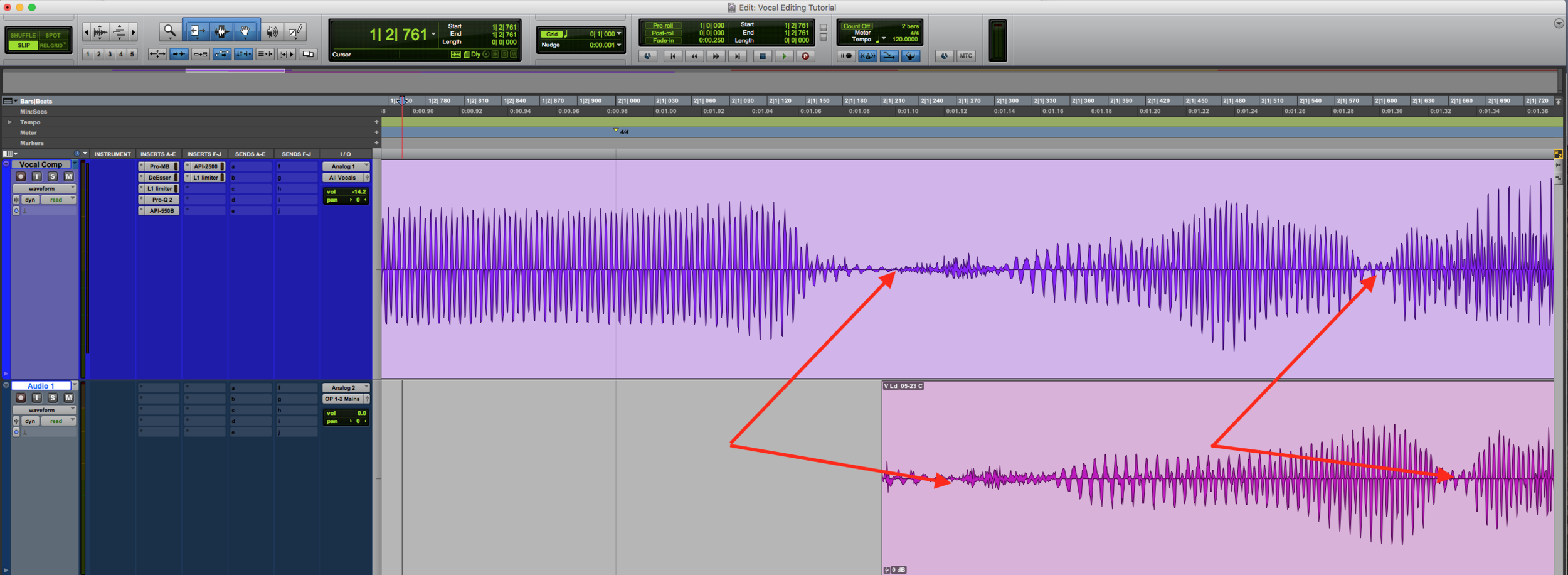 Vocal Editing Timing Off