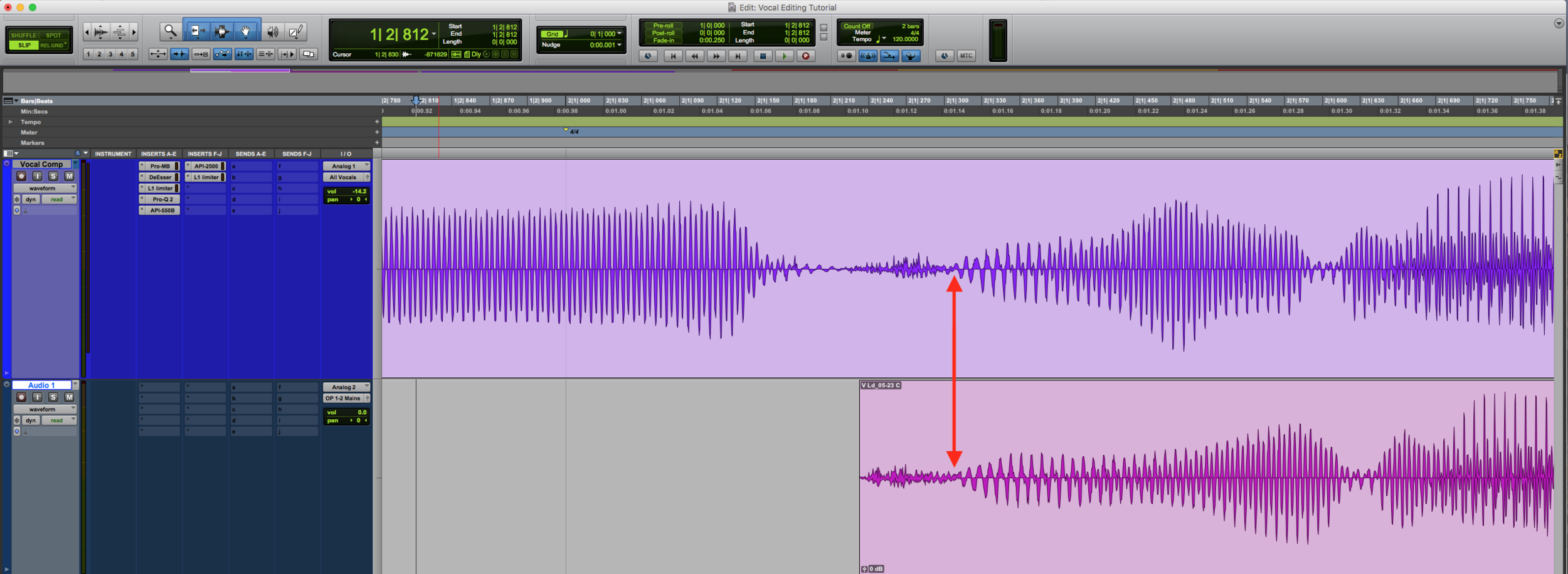Vocal Editing Nudge Clip