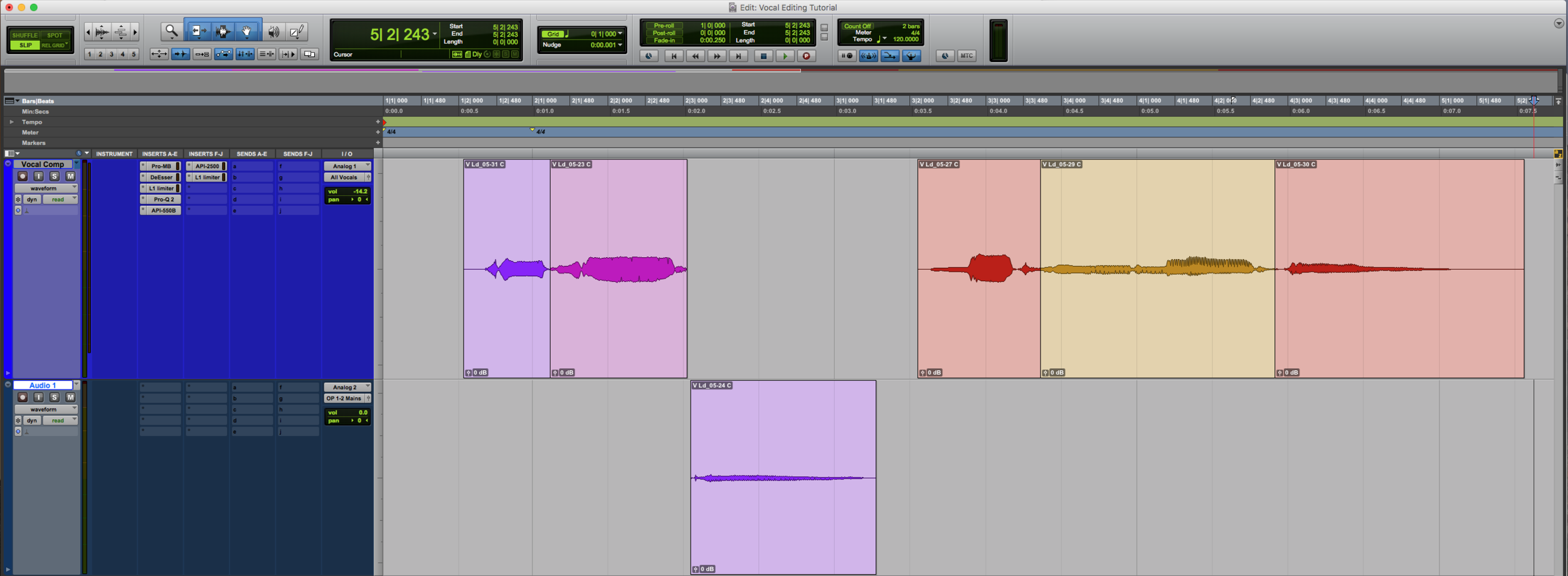Vocal Editing Fly In Comp