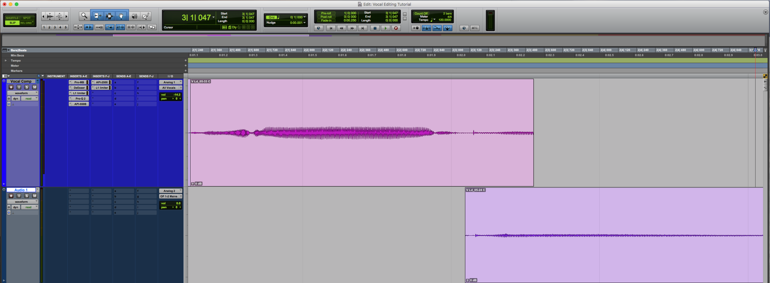Vocal Editing Zoomed Out