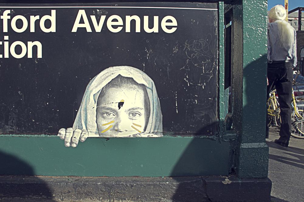 BEDFORD AVENUE  - Pasteup in NewYork City