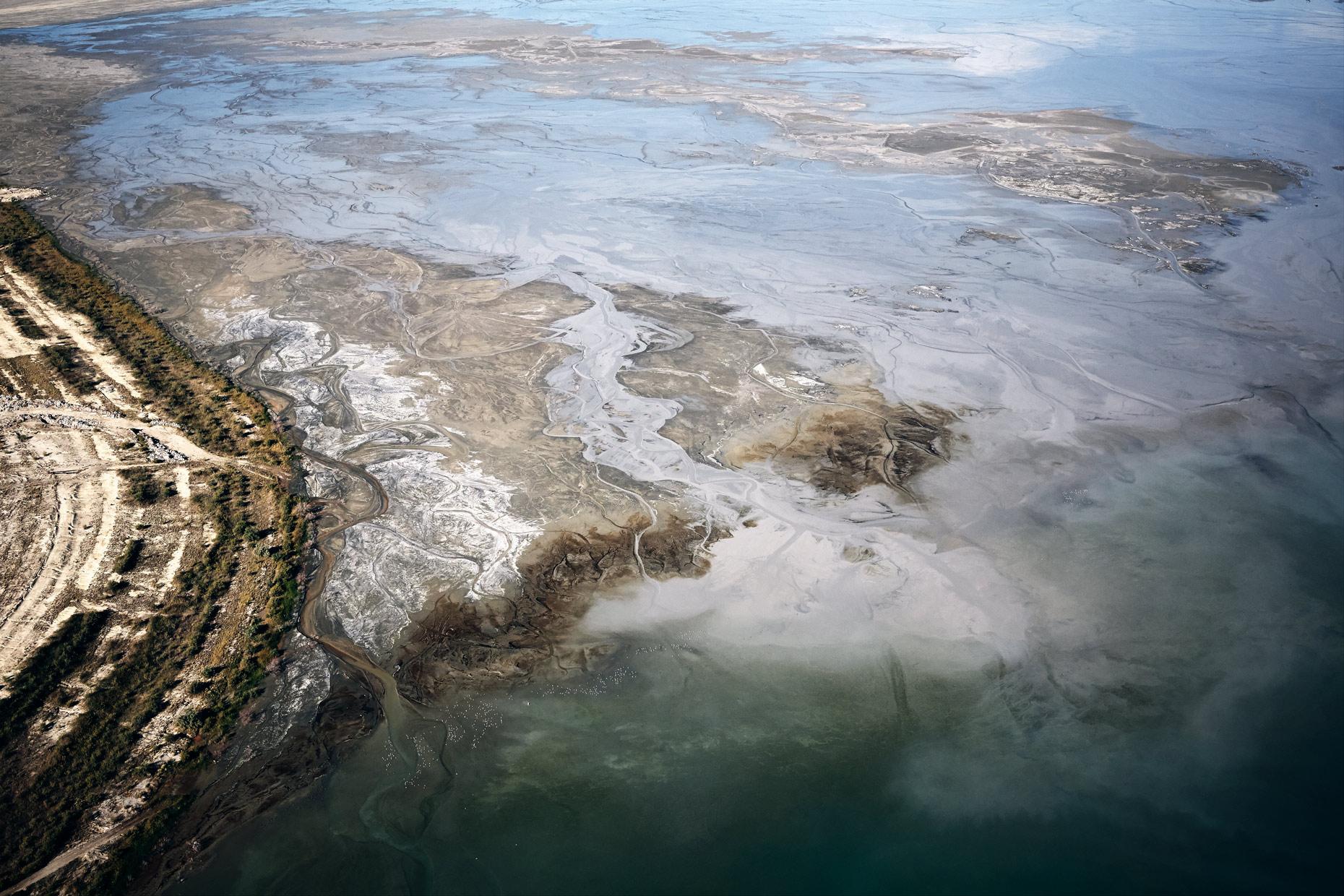 Aerial Photography Great Salt Lake