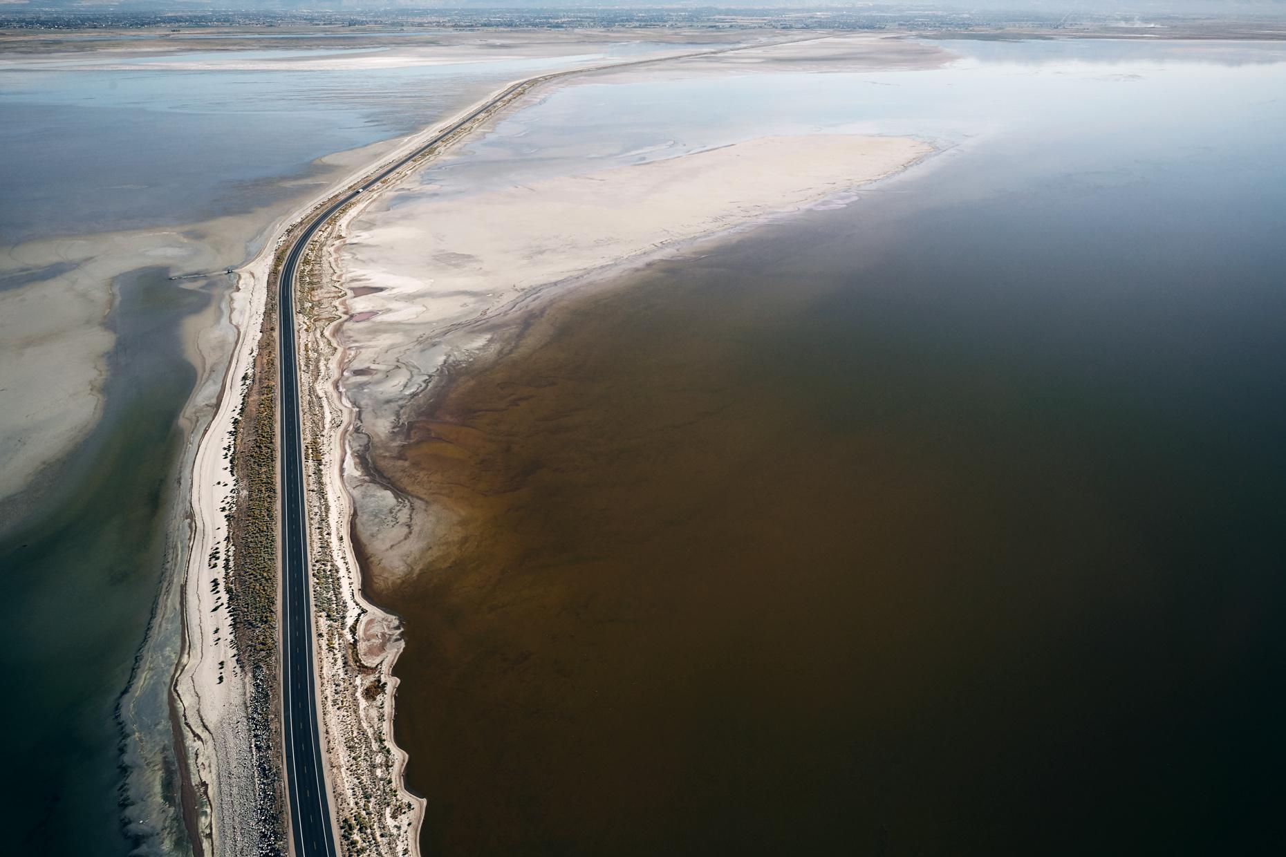 Aerial Photography Derek Israelsen The Great Salt Lake Divide