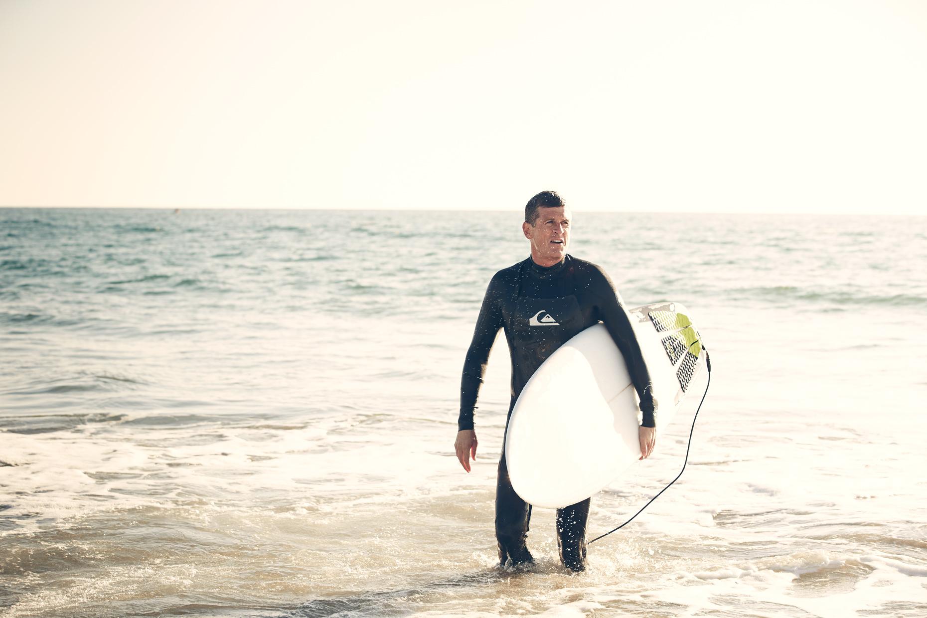 Lifestyle photography Derek Israelsen Surfer Beach