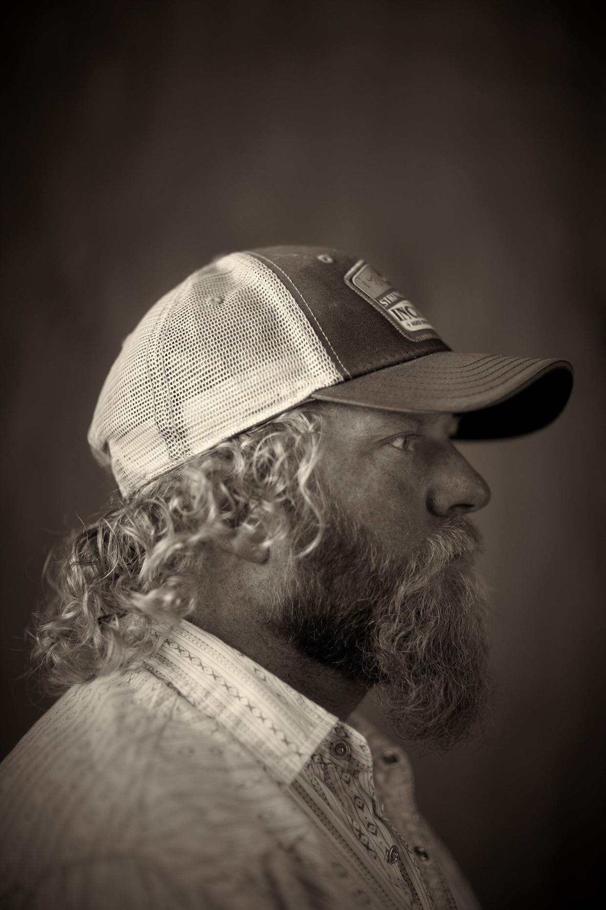 Portrait Photography Derek Israelsen Trucker Profile