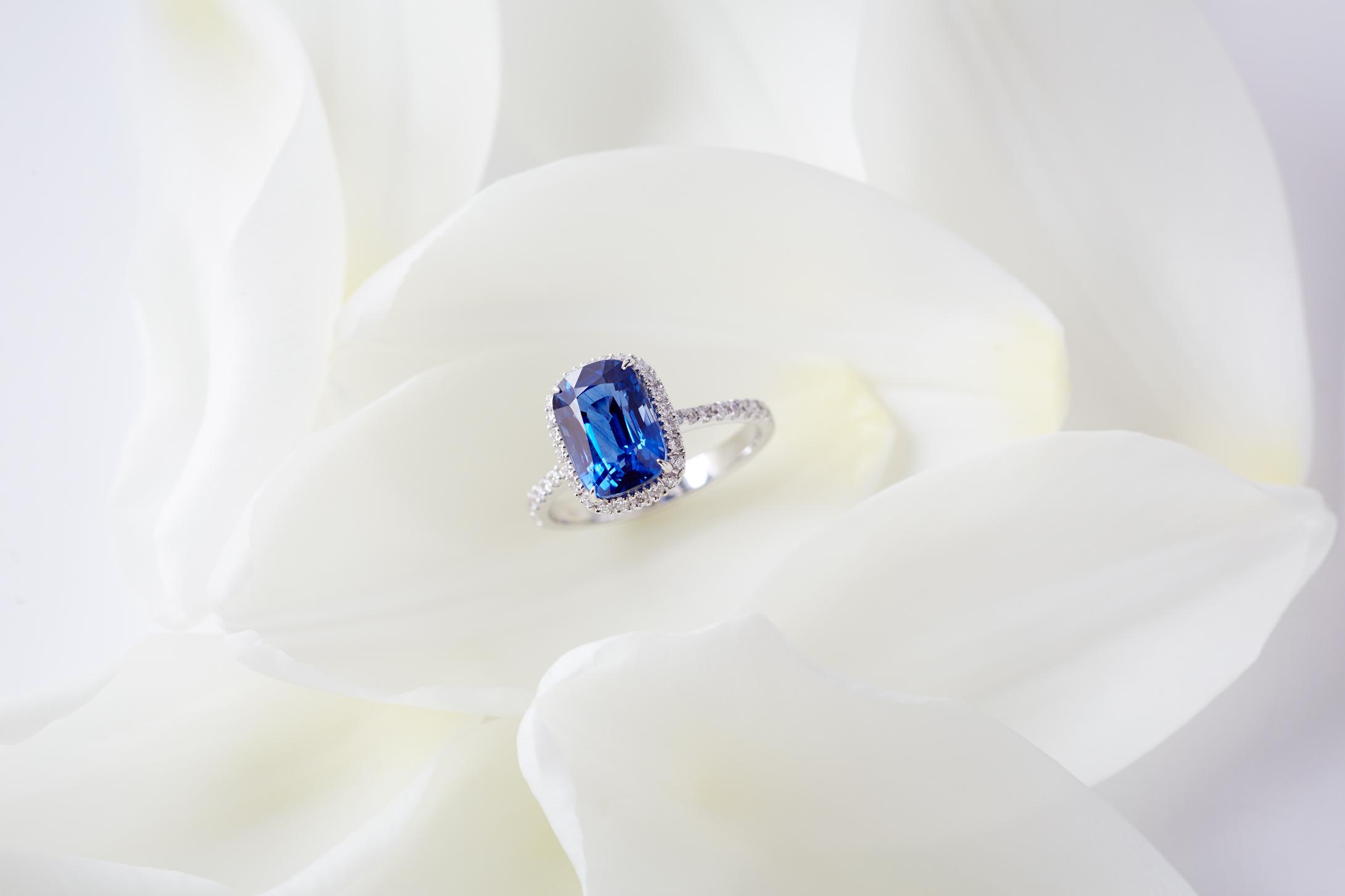 Product photography Jewelry Derek Israelsen Sapphire White