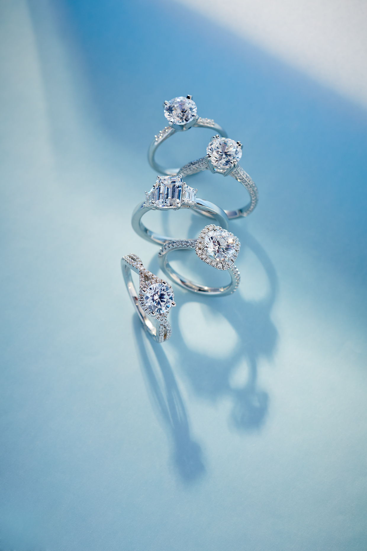 Product photography Jewelry Diamond Rings