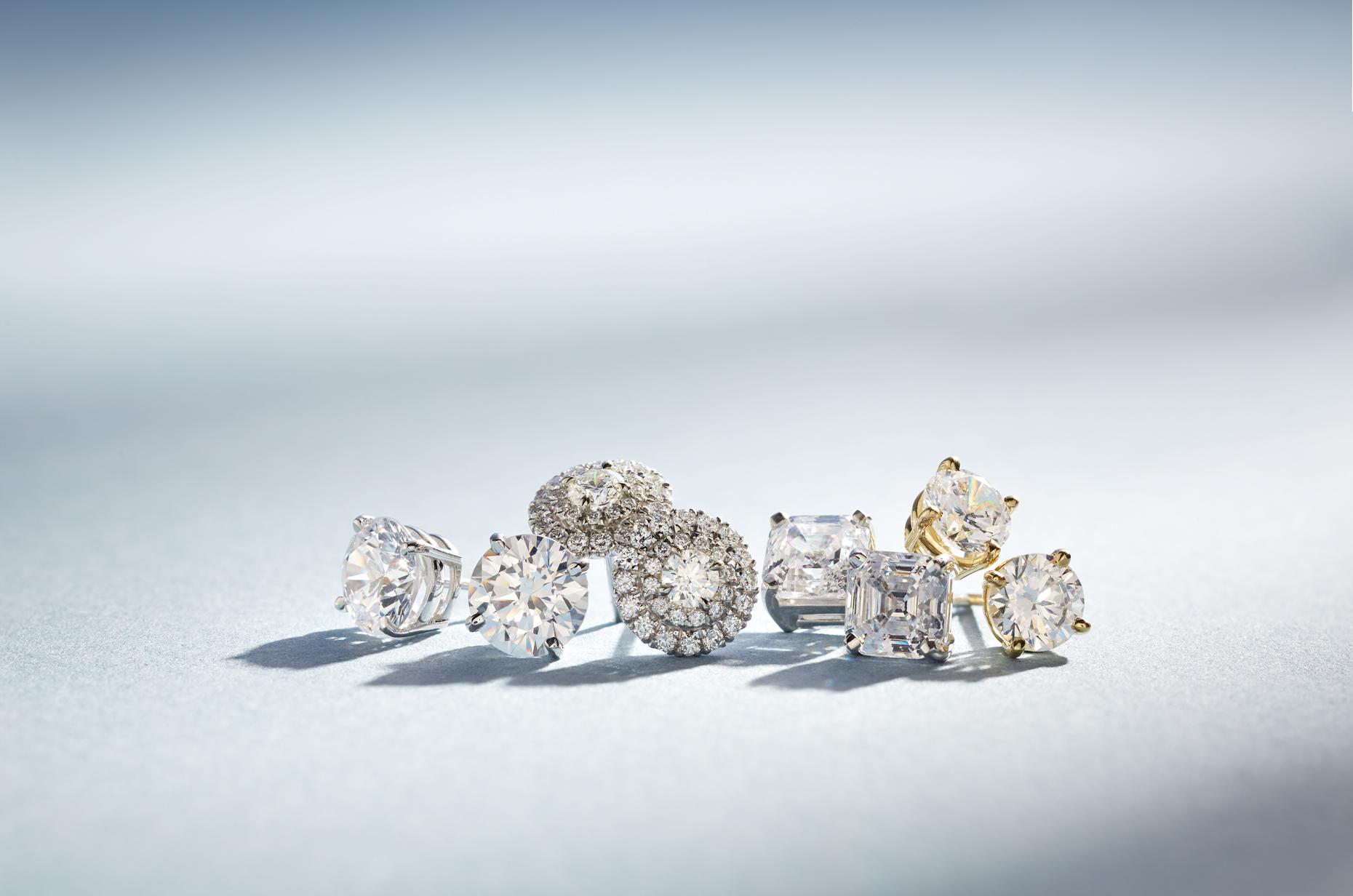 Product photography Jewelry Derek Israelsen Diamond Earrings