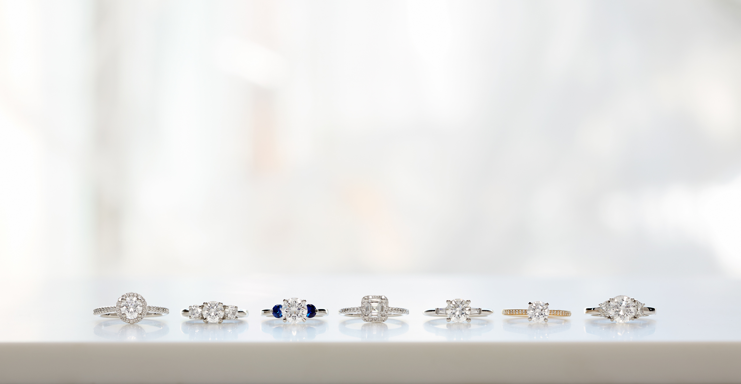Product photography Jewelry Derek Israelsen Rings on Table