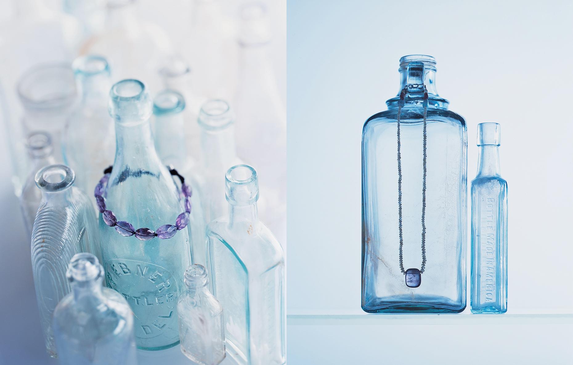 Product photography Jewelry Derek Israelsen Bracelet Necklace Bottles
