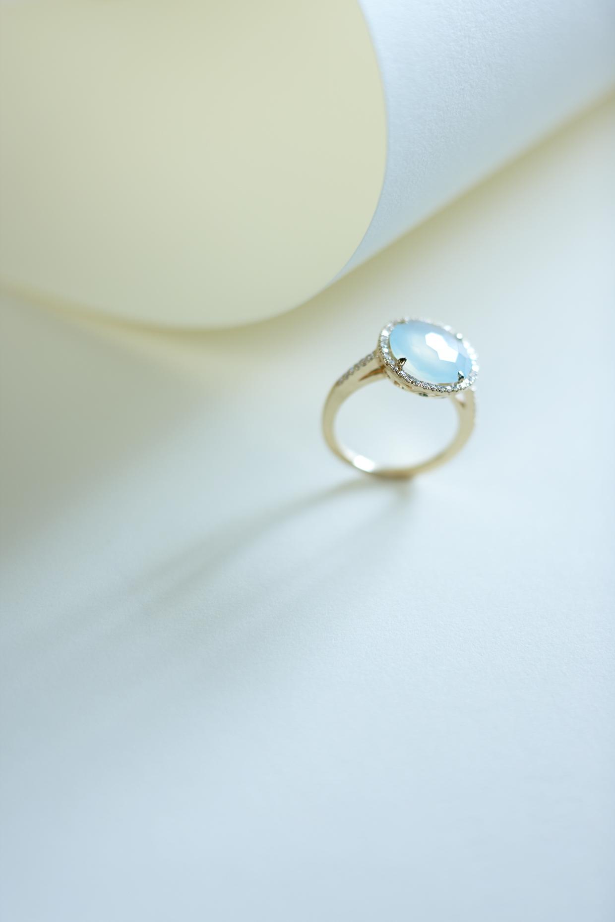 Product photography Jewelry Derek Israelsen Aquamarine Ring