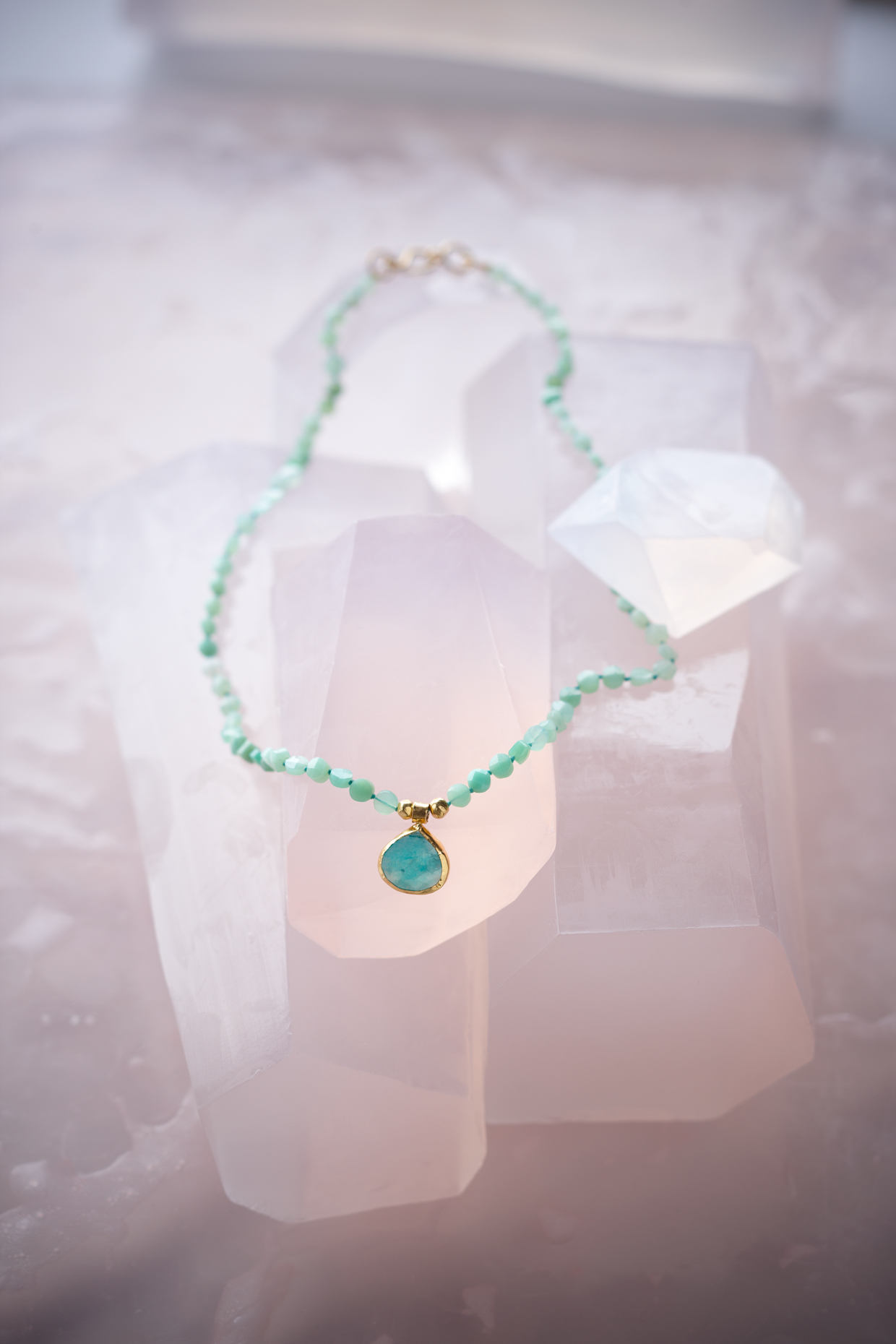 Product photography Jewelry Derek Israelsen Turquoise on Crystal