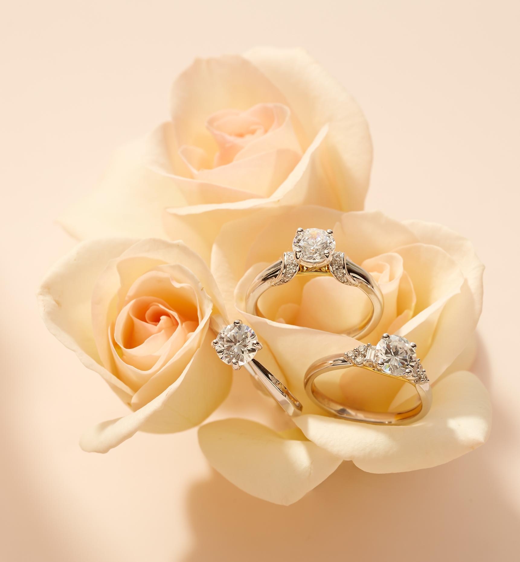 Product photography Jewelry Derek Israelsen Diamond Rings Roses