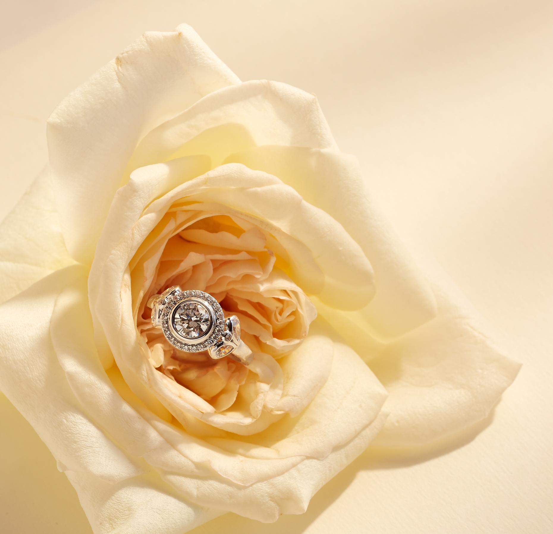 Product photography Jewelry Derek Israelsen Diamond Ring Rose