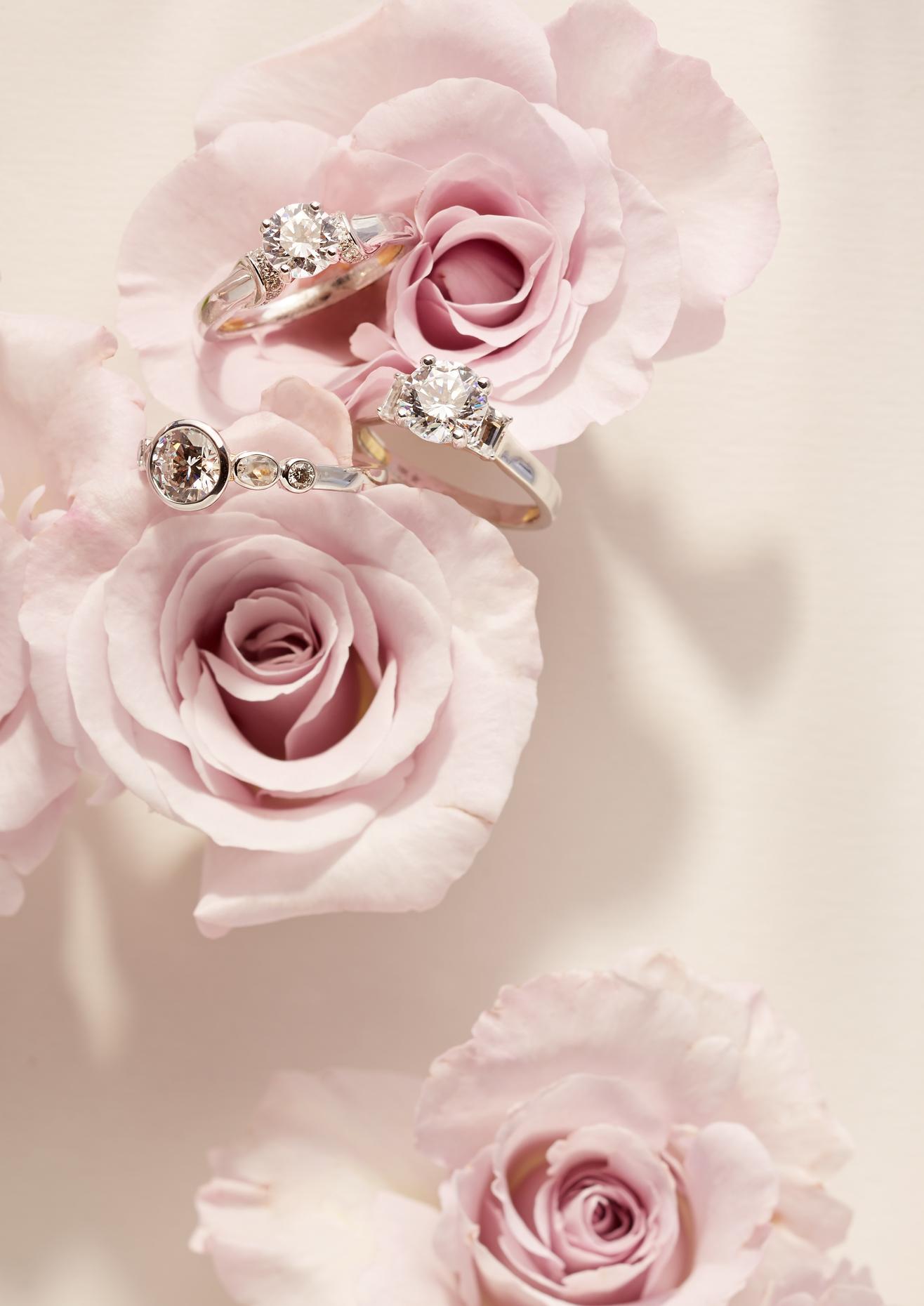 Product photography Jewelry Derek Israelsen Diamond Rings Pink