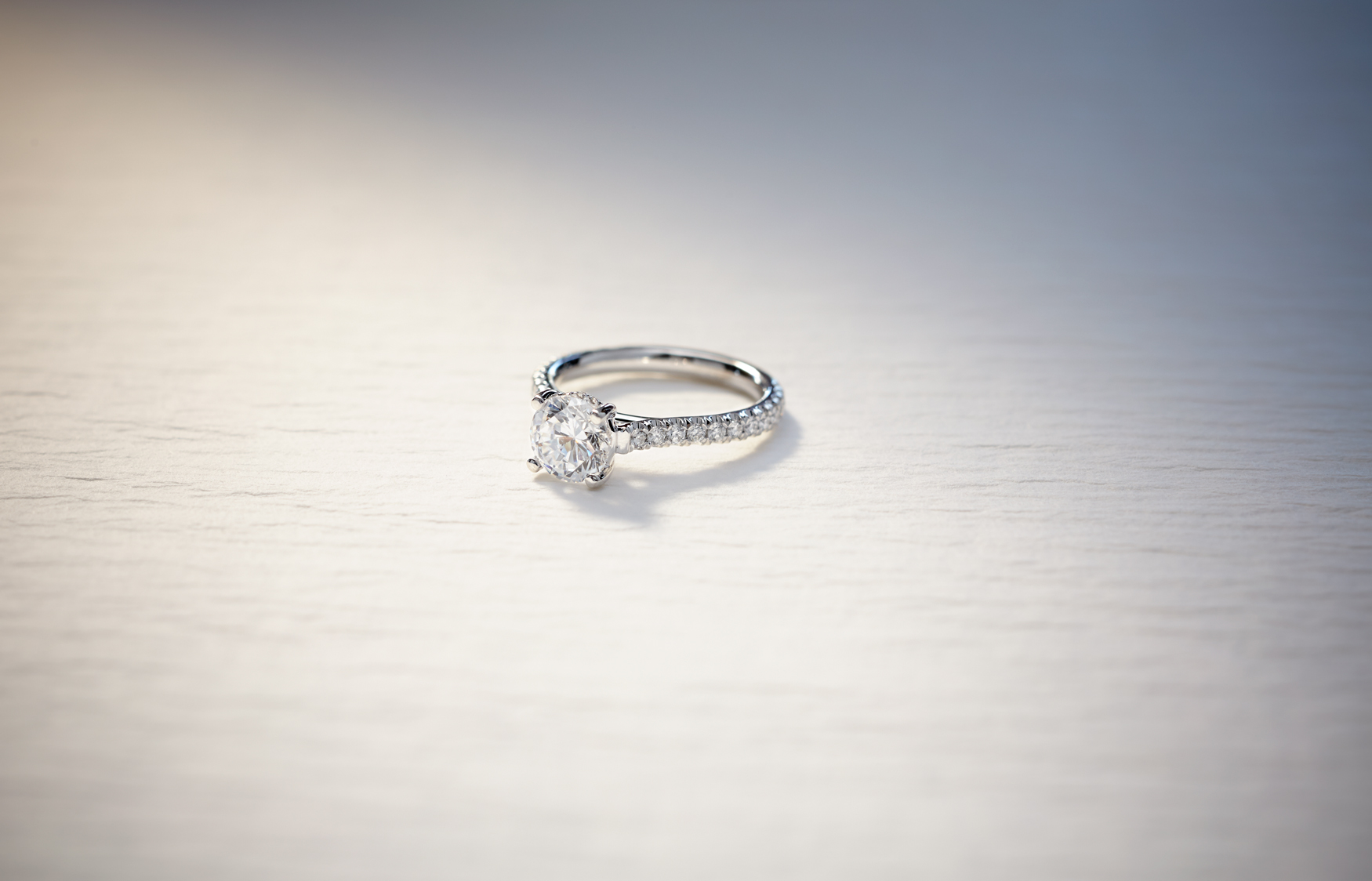 Product photography Jewelry Diamond Ring On Vintage Paper