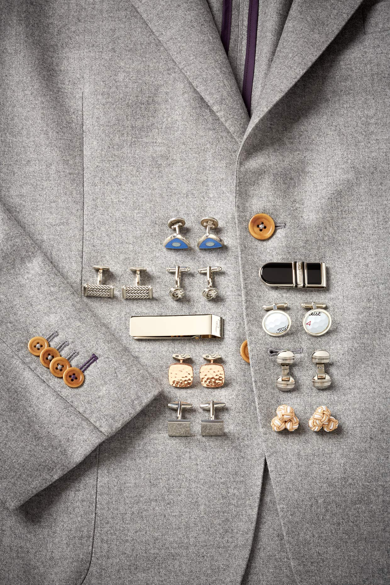 Product photography Jewelry Derek Israelsen Brass Tacks Cufflinks