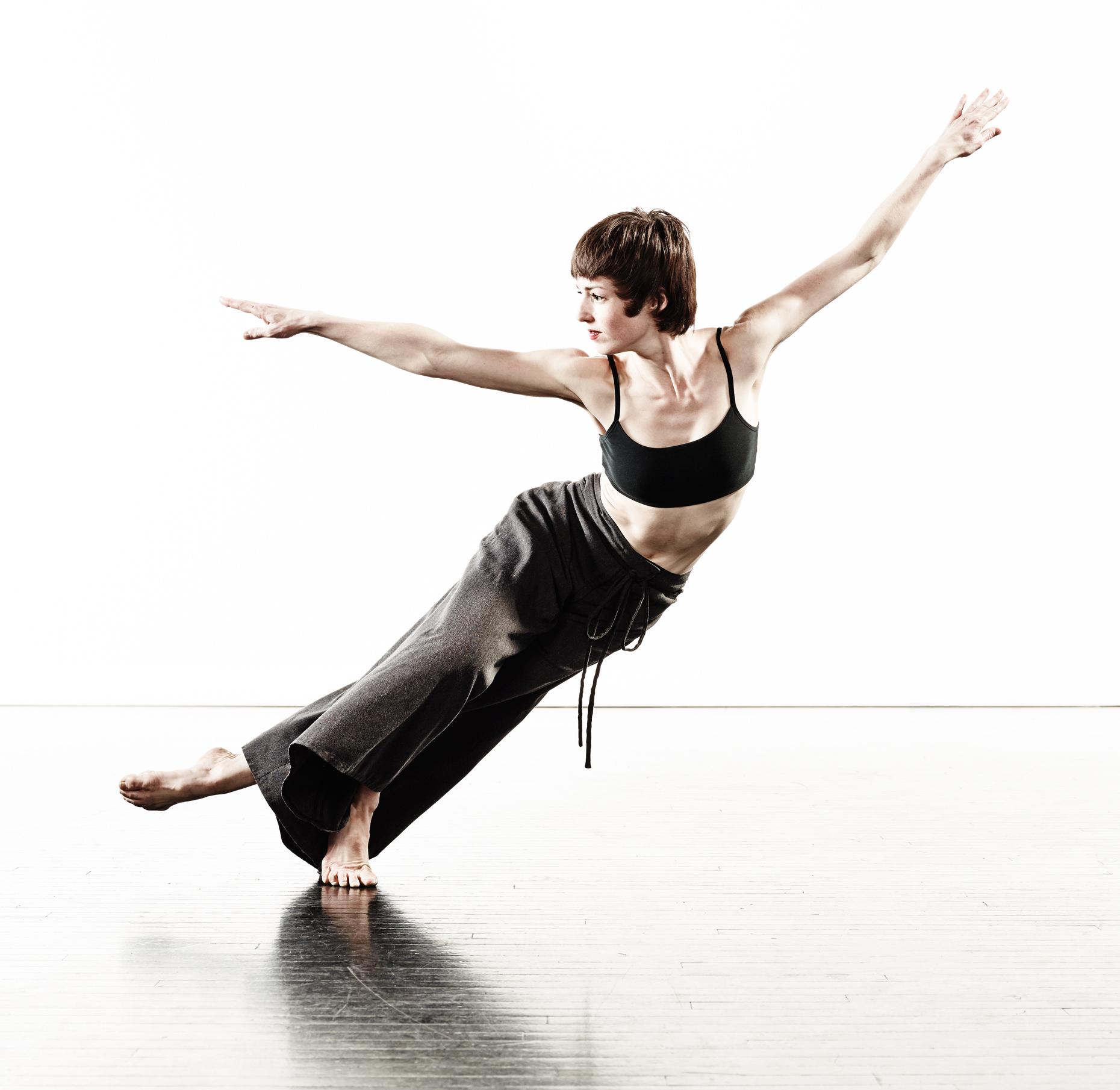 Ririe-Woodbury Derek Israelsen 012 Female Dancer Arms Wide