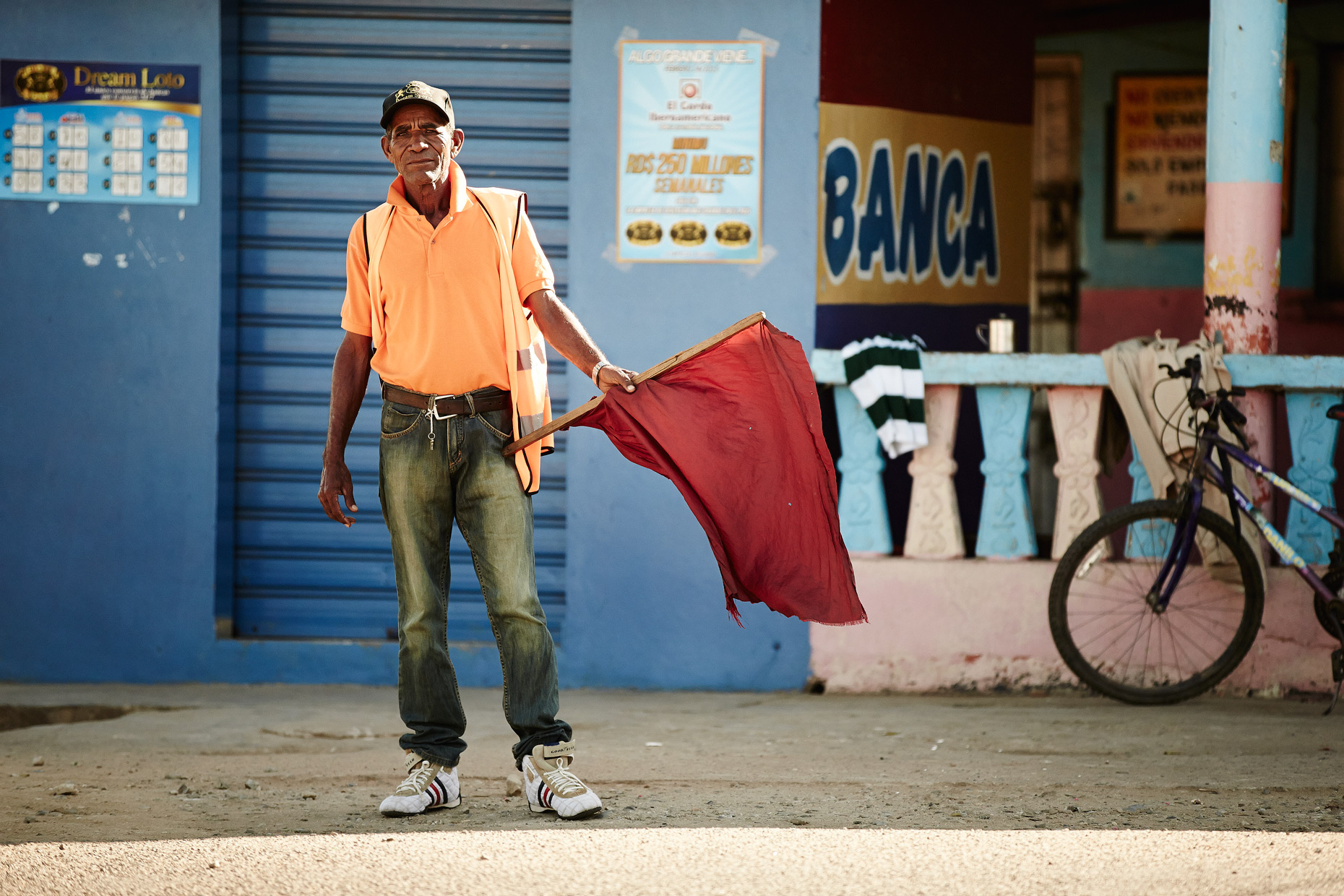 Travel Photography Dominican Republic Derek Israelsen Waving Red Flag