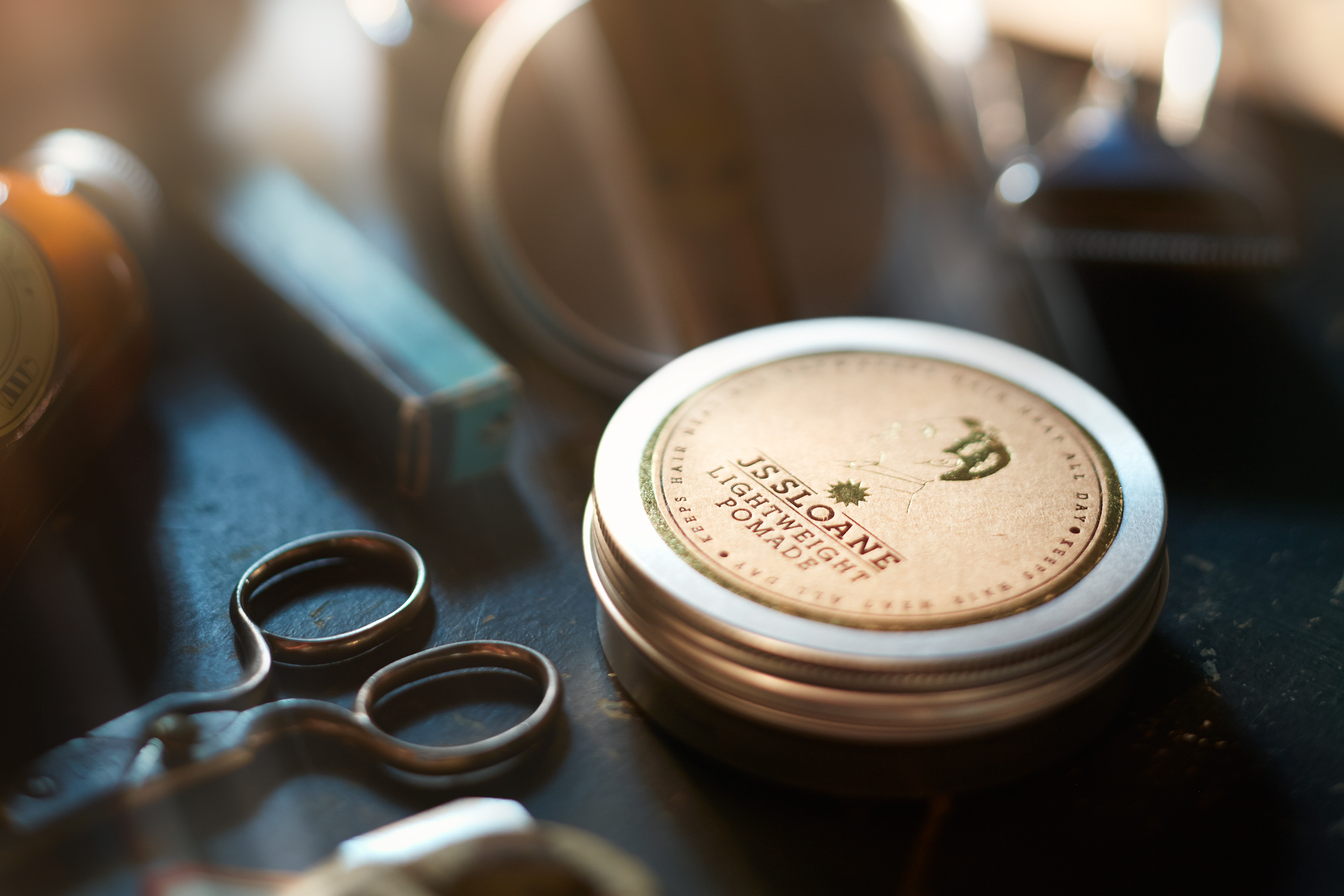 Product Photography StillLife Derek Israelsen Pomade Scissors