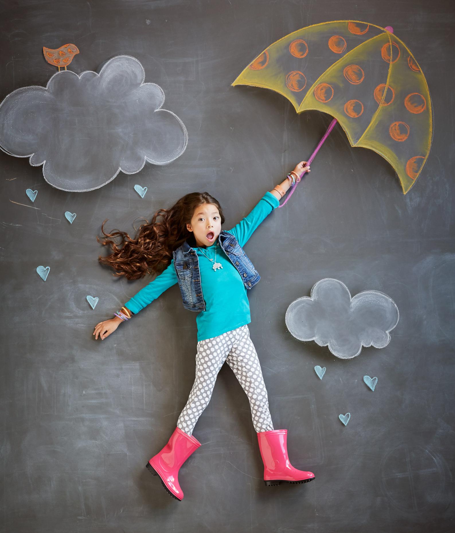 Portrait Photography Derek Israelsen Kid Chalk Umbrella