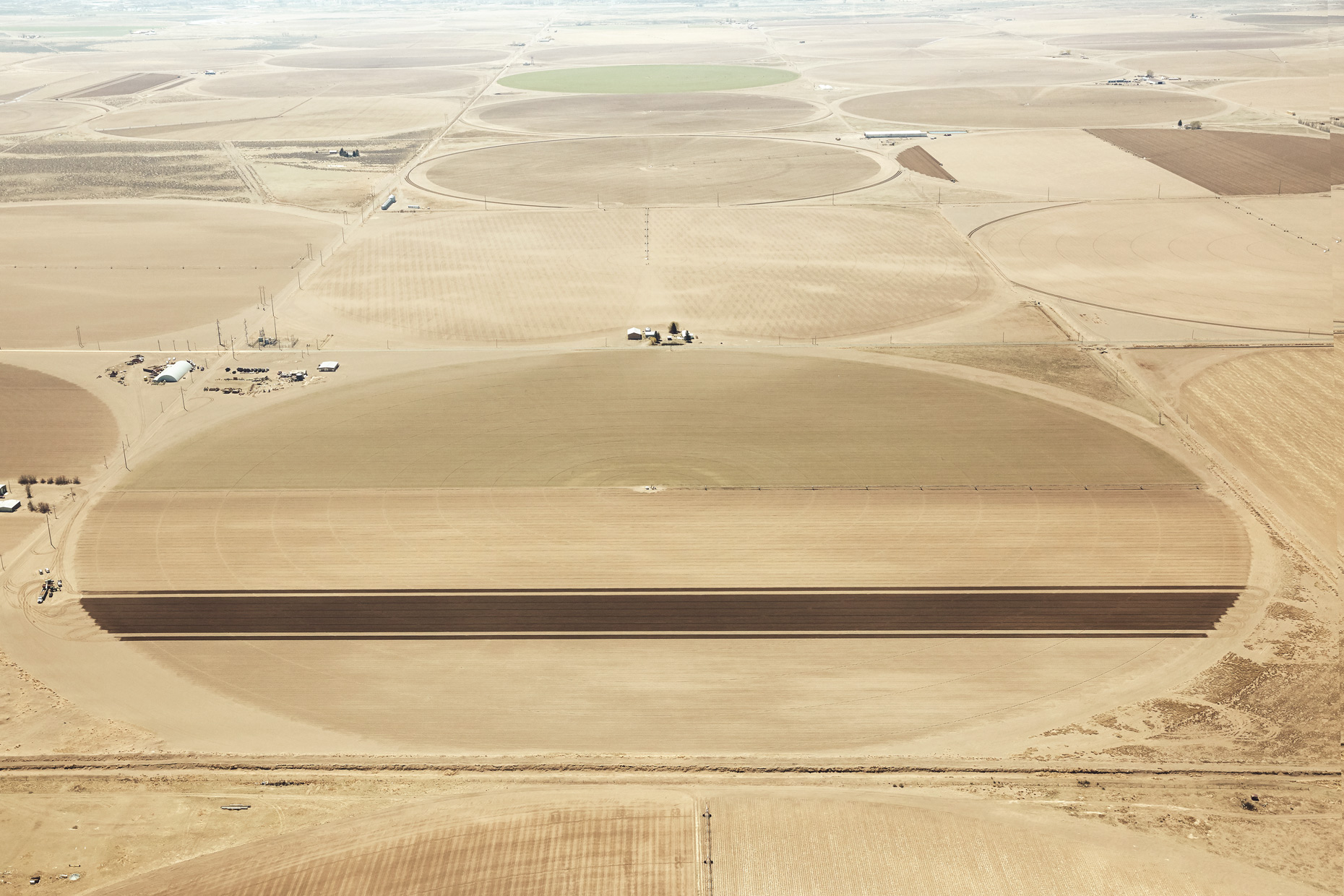Aerial Photography Sowing the Seeds