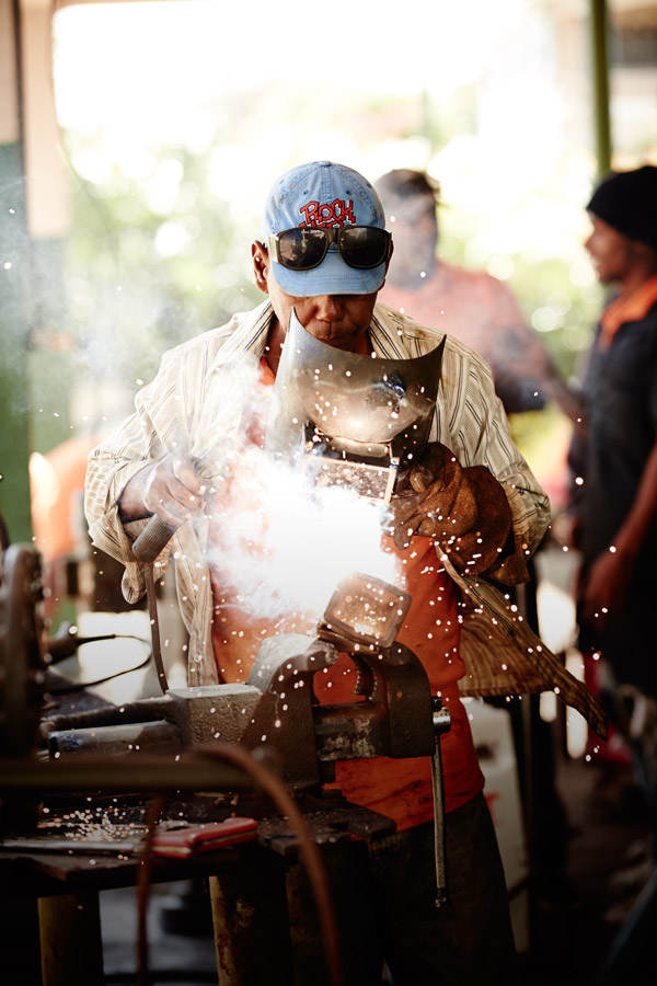 Welding in Dominican Republic by Derek Israelsen
